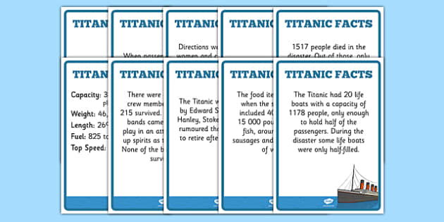 The Titanic Fact Posters - titanic, facts, posters, visual aid
