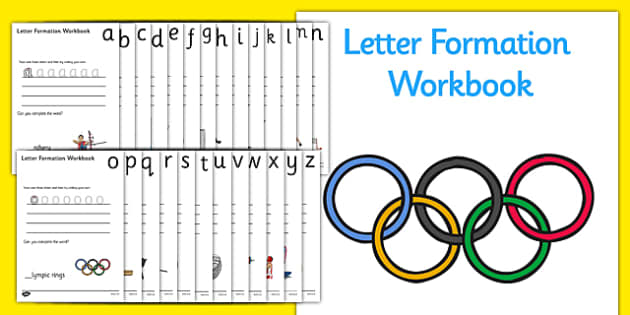 The Olympics Letter Formation Workbook - Olympics, Olympic Games, sports, Olympic, London, 2012, Letters and Sounds, handwriting, letter formation, workbook, writing practice, foundation, uppercase, letters, writing, learning to write, DFES