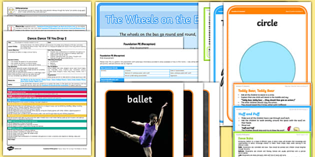 Foundation PE (Reception) - Dance - Dance Till You Drop Lesson Pack 2: Wheels on the Bus - EYFS, PE, Physical Development, Planning