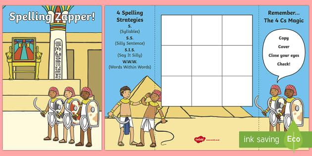 Ancient Egypt Themed Blank Spelling Zapper - spelling zapper, spell, spelling, zapper, ancient egypt, blank zapper, blank