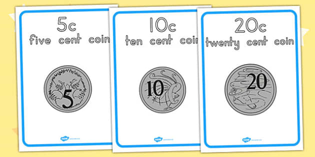 Australian Coin Display Posters - Australian Coins Printable. australia, coin, display poster