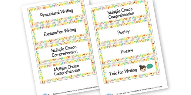 literacy labels - display lettering - Writing Area Primary Resources, signs, area, zones, banner, poster