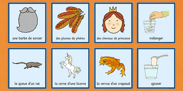 Magic Potion Prompt Cards French - french, magic, potion, prompt, halloween, cards, flashcards, pour, mix, stir, add, spiders, frogs, eyeballs, ingredients, toad