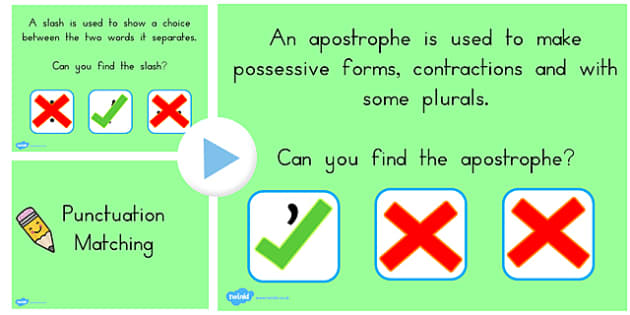 Punctuation Matching PowerPoint Activity - activities, match