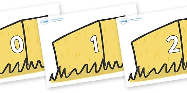 Numbers 0-31 on Hay Bales - 0-31, foundation stage numeracy, Number recognition, Number flashcards, counting, number frieze, Display numbers, number posters