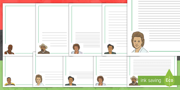 Black History Month in Canada Page Border Pack - Black History Month in Canada, black, blacks, canada, celebration, famous, legends, writing, page, b