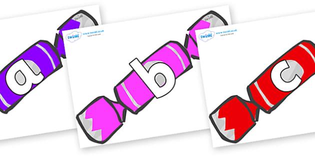Phoneme Set on Christmas Crackers (Multicolour) - Phoneme set, phonemes, phoneme, Letters and Sounds, DfES, display, Phase 1, Phase 2, Phase 3, Phase 5, Foundation, Literacy