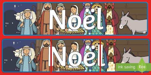 Noël Banderole d'affichage - Noël, Christmas, banderole, banner, panneau, affichage, display,French