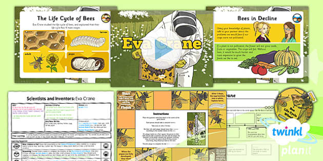 PlanIt - Science Year 5 - Scientists and Inventors Lesson 5: Eva Crane Lesson Pack - Eva Crane, bees, life cycles