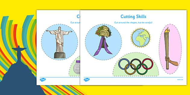 Rio Olympics 2016 Cutting Skills Activity Sheet - rio olympics, 2016 olympics, cutting skills, cut, skill, activity, sheet, worksheet
