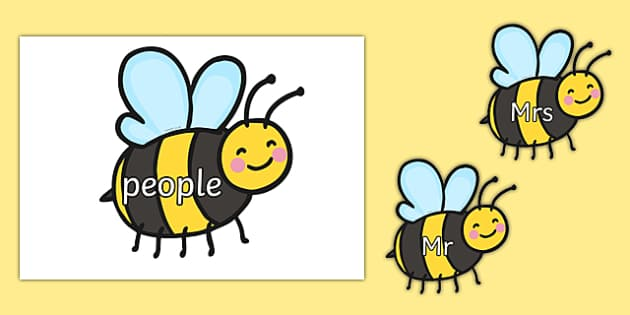 Phase 5 Tricky Words on Bees - phase 5, tricky words, bees, minibeasts