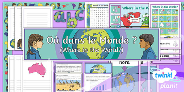 PlanIt - French Year 4 - Where in the World? Additional Resources - french, languages, grammar, countries, animals, equator