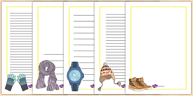 French Clothes 2 Page Borders - french, clothes, page, borders