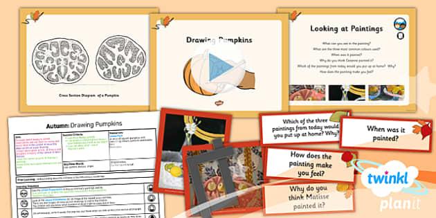 PlanIt - Art LKS2 - Autumn Lesson 5: Drawing Pumpkins Lesson Pack
