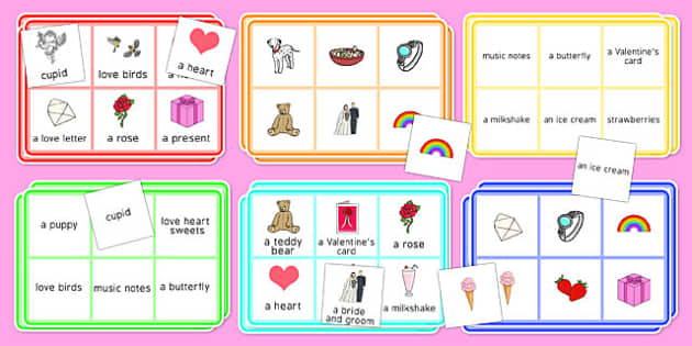 Adult Education Valentine's Day Bingo - Elderly, Reminiscence, Care Homes, Valentine's Day