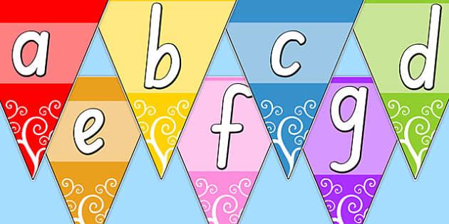 Multicolour Alphabet Bunting SA - australia, alphabet, bunting