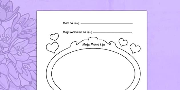 Arkusz Dzień Matki po polsku