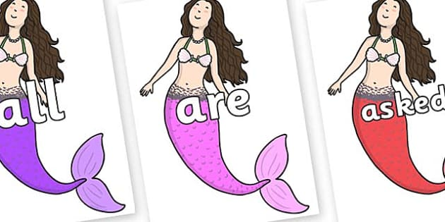 Tricky Words on Sirenetta - Tricky words, DfES Letters and Sounds, Letters and sounds, display, words