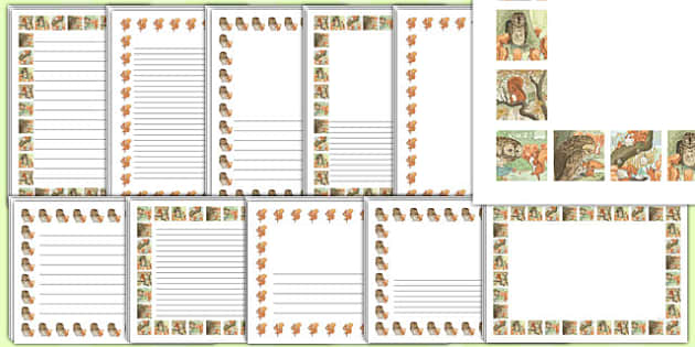 The Tale of Squirrel Nutkin Page Borders - squirrel nutkin, page borders