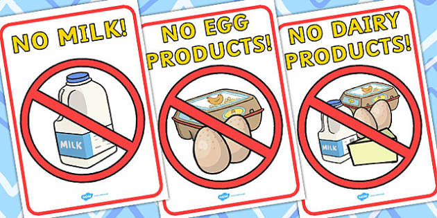 No Dairy Display Posters - posters, display, food, food groups