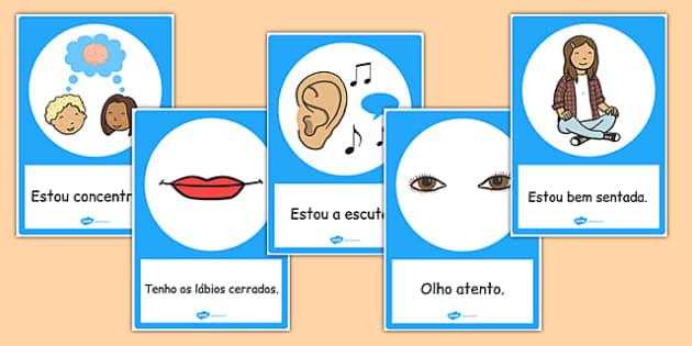 Good Listening Posters Portuguese - portuguese, good listening, posters, good, listening