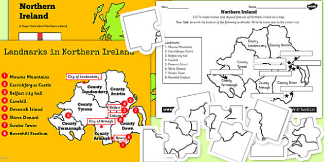 Northern Ireland UK Lesson Teaching Pack - united kingdom, UK