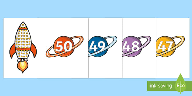 Rocket and Planet Matching Set - Space, Foundation Numeracy, Number recognition, Number flashcards, A4, display, space, ship, rocket, alien, launch, foundation stage, topic, moon, stars, planet, planets