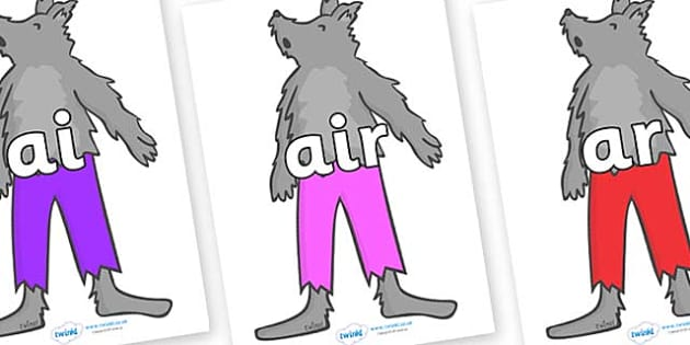 Phase 3 Phonemes on Werewolf - Phonemes, phoneme, Phase 3, Phase three, Foundation, Literacy, Letters and Sounds, DfES, display