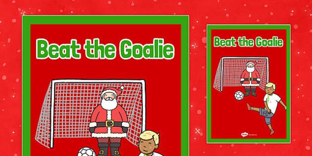 Christmas Themed Beat the Goalie Poster - christmas fair, display poster, display, poster, beat the goalie