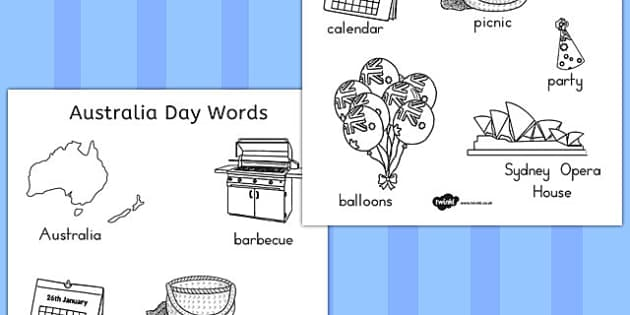 Australia Day Colouring Page - australia, colouring, page, colour