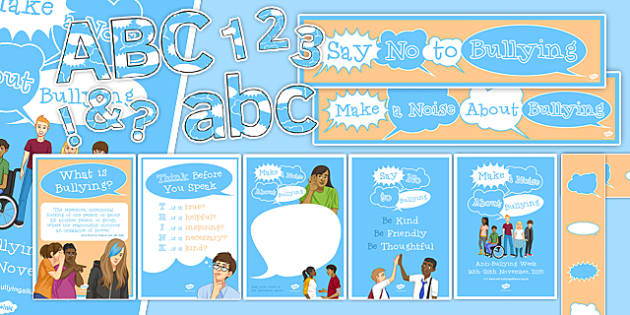 Anti-Bullying Week Display Pack - anti-bullying week, display, pack