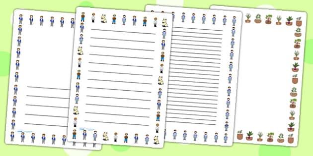 Oliver's Vegetables Page Borders - Oliver's vegetables, borders