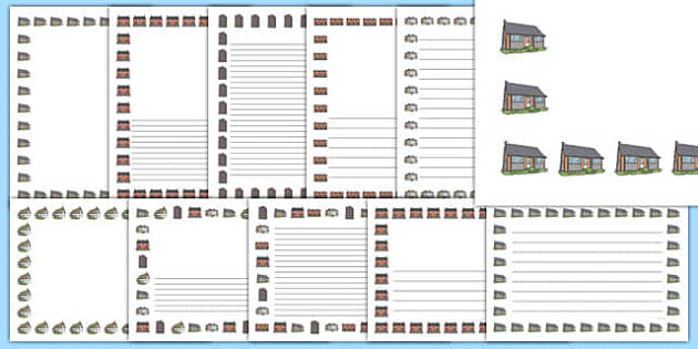 Houses and Homes Page Border Portrait - house, home, borders