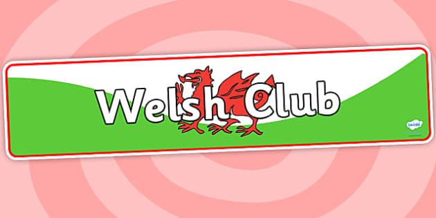 Welsh Club Display Banner - welsh club, display banner, banner for display, display, banner, header, header for display, header display, display header