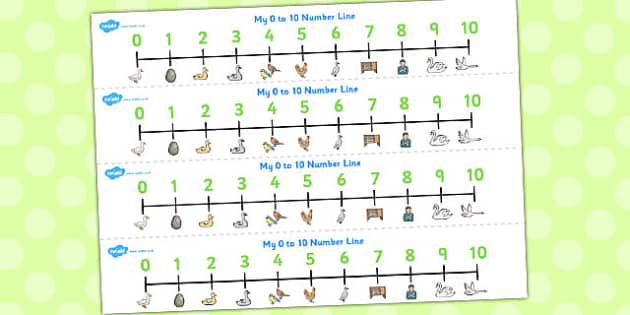 Ugly Duckling Number Lines 0-10 - number lines, ugly duckling, 10