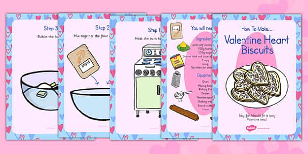 Valentine Biscuits Recipe Cards - valentine, biscuits, recipe