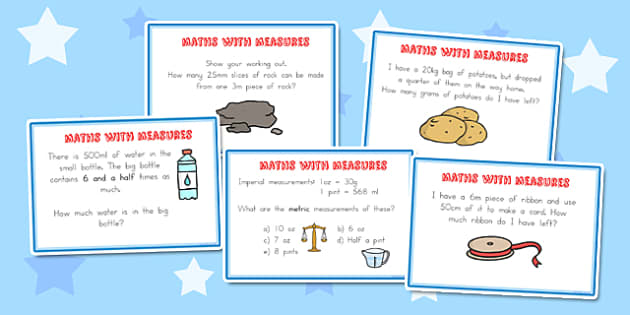 Maths Measure Problems Challenge Cards - australia, maths, measure