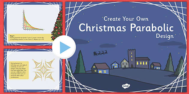 Christmas Parabolic Designs PowerPoint - christmas, parabolic, parabol, designs, powerpoint