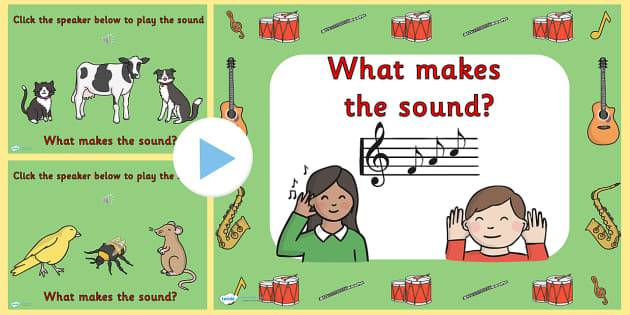 What Makes The Sound PowerPoint - powerpoint, what makes the sound, interactive powerpoint, powerpoint game, game, sounds, interactive, class activity