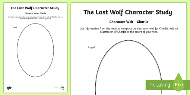 Charlie Character Web to Support Teaching on The Last Wolf-Scottish - CfE, novel study, Michael Morpurgo, The Last Wolf, reading activity, character study,comprehension,