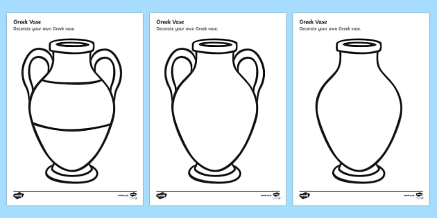 Greek Vase Design Sheet - decorate a greek vase, greek vase template, design a greek vase, ancient greece, ancient greece colouring worksheet, greek history