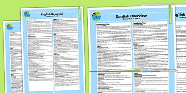 Australian Curriculum Foundation to Y2 Overview Booklet English