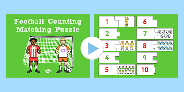 Football Themed Counting Puzzle Activity presentation - game