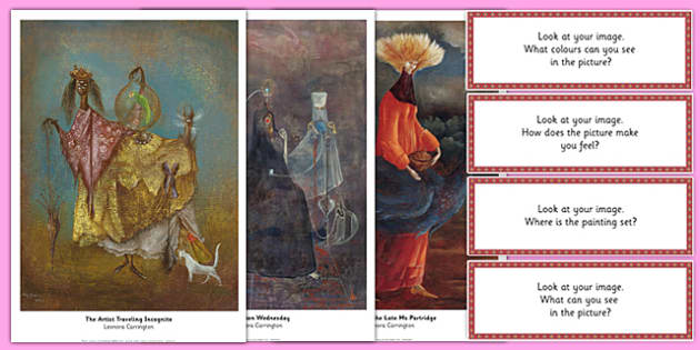 Leonora Carrington Photopack and Prompt Questions - leonora carrington, photopack, prompt, questions