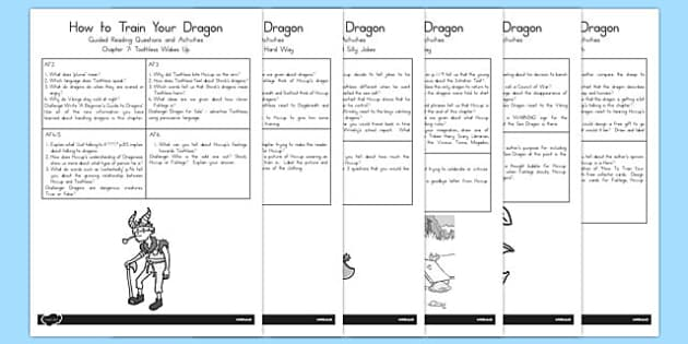 How to Train Your Dragon Guided Reading Pack - australia, dragon, train