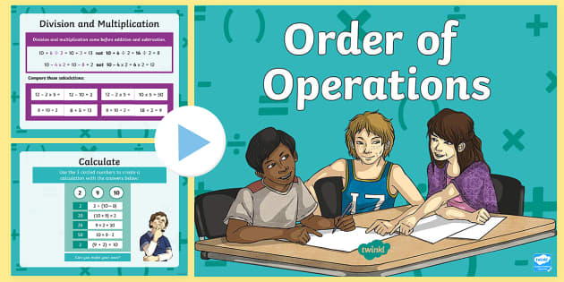 Order of Operations BODMAS BIDMAS Teaching Presentation - order, operations, bodmas, bidmas, teaching, presentation