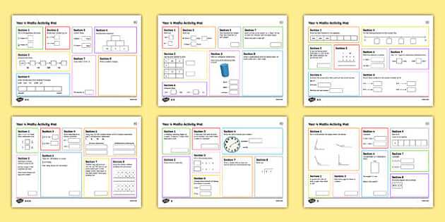 Year 4 Autumn 2 Maths Activity Mats