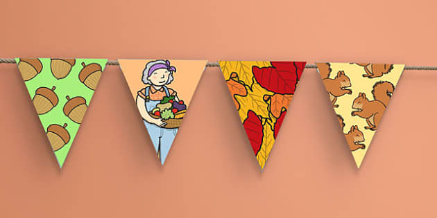 Autumn Display Bunting Images - bunting, autumn, display lettering, autumn display bunting, autumn display images, images, display, display bunting