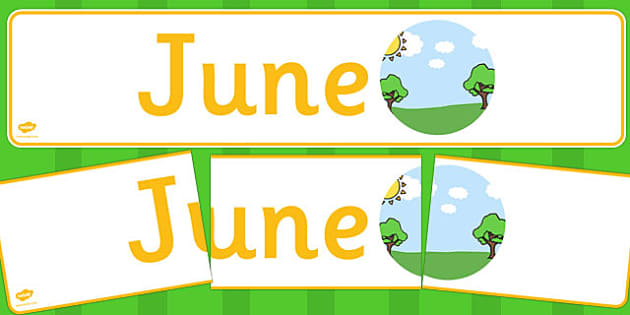 June Display Banner - june, display banner, display, banner, months, year