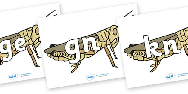 Silent Letters on Grasshoppers - Silent Letters, silent letter, letter blend, consonant, consonants, digraph, trigraph, A-Z letters, literacy, alphabet, letters, alternative sounds